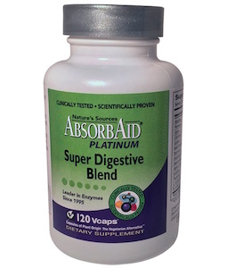 Nature's Sources AbsorbAid Platinum Super Digestive Blend 120 vcaps