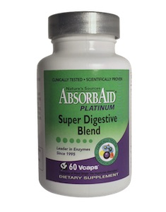 Nature's Sources AbsorbAid Platinum Super Digestive Blend 60 vcaps