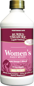 Buried Treasure Women's Daily Multi with Omega 3 Blend