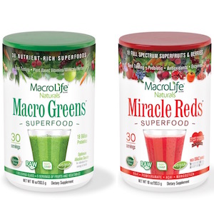 MacroLife Naturals Macro Greens and Miracle Reds Combo 10 oz