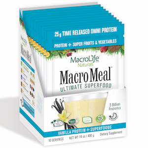 MacroMeal Ultimate Superfood Omni Vanilla 10 Packets