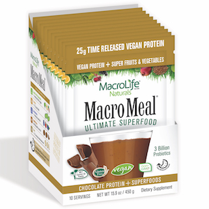 MacroMeal Ultimate Superfood Vegan Chocolate 10 Packets