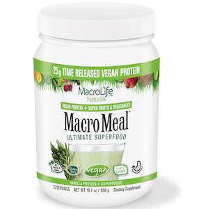 MacroMeal Ultimate Superfood Vegan Vanilla 15 Servings
