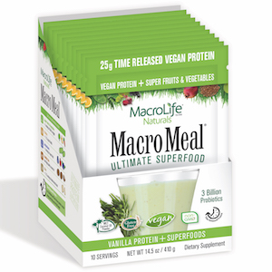 MacroMeal Ultimate Superfood Vegan Vanilla 10 servings