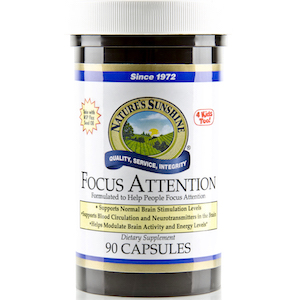 Nature's Sunshine Focus Attention Capsules