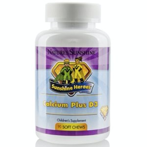 Nature's Sunshine Sunshine Heroes Calcium Plus D3