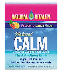 Natural Vitality Natural Calm Raspberry-Lemon 30 packets