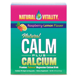 Natural Vitality Natural Calm Plus Calcium Raspberry-Lemon Pkts