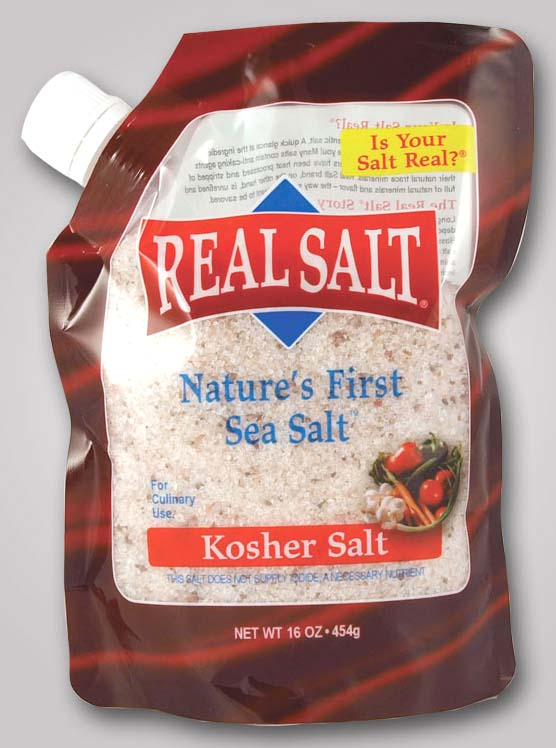 Real Salt Kosher Refill Pouch 16 oz